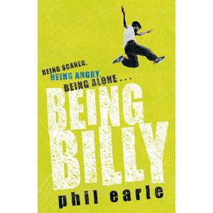 "cover of Phil Earle's YA novel ""Being Billy"""